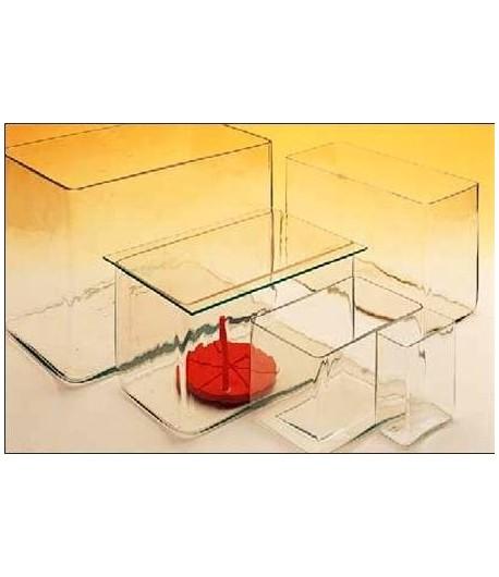 Üvegkád ma:260xh360xsz:230mm