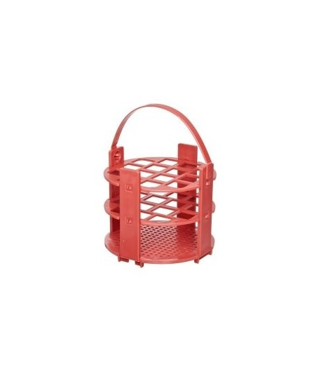 Kémcsőállvány kör alakú, piros, 21 férőhely, átm.: 12mm