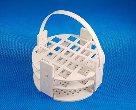 Kémcsőállvány kör alakú, fehér 21 férőhely, átm.: 13mm