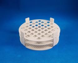 Kémcsőállvány kör alakú, fehér 44 férőhely, átm.: 12mm