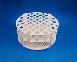 Kémcsőállvány kör alakú, fehér 52 férőhely, átm.: 13mm